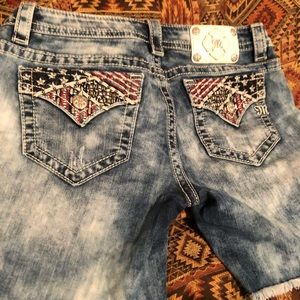 Miss me American flag Jean shorts
